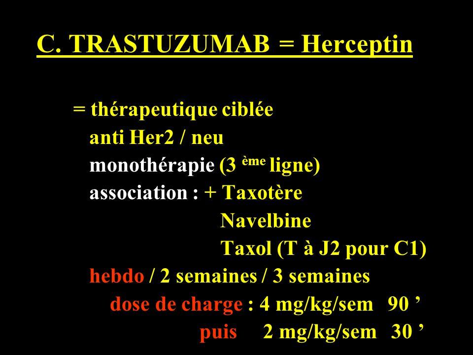 C. TRASTUZUMAB = Herceptin