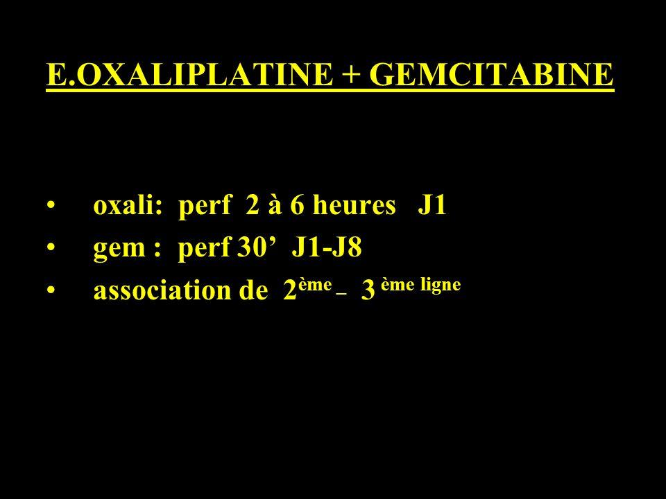 E.OXALIPLATINE + GEMCITABINE