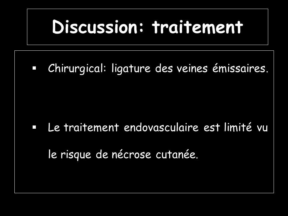 Discussion: traitement