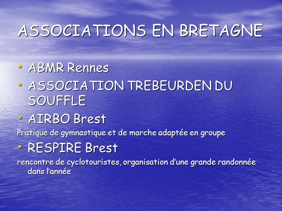 ASSOCIATIONS EN BRETAGNE