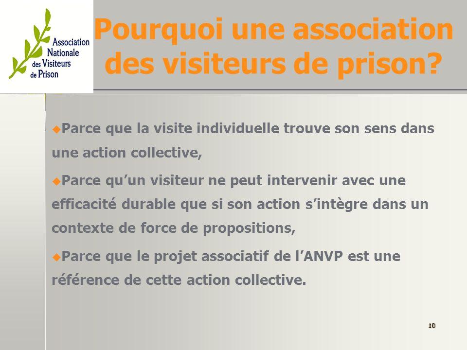 Pourquoi une association des visiteurs de prison