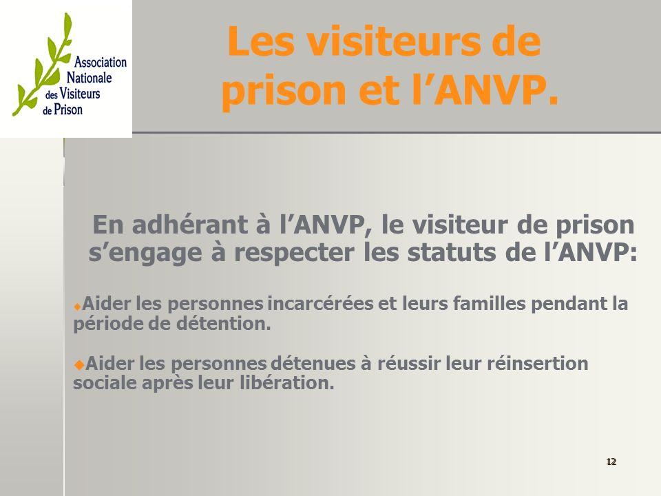 Les visiteurs de prison et l'ANVP.