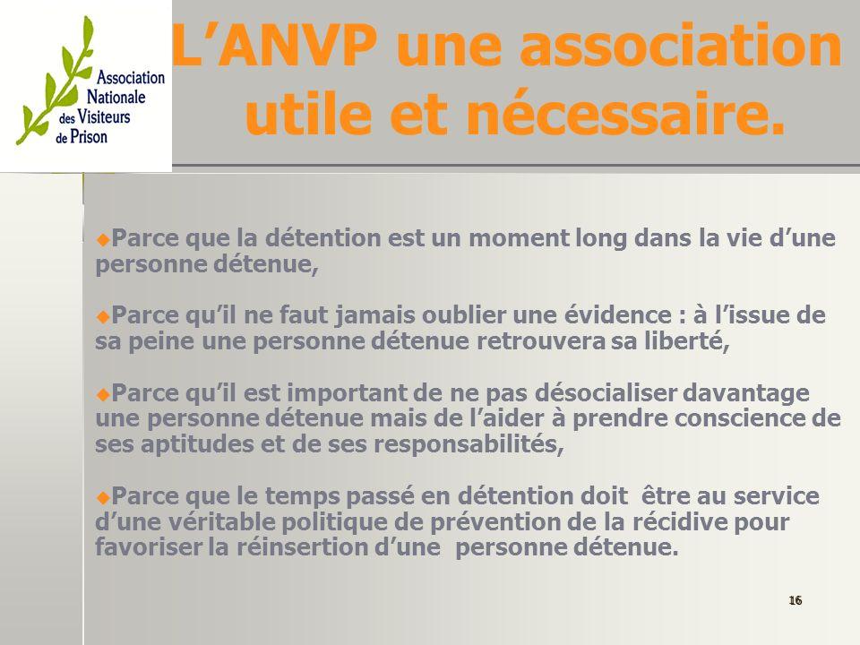 L'ANVP une association utile et nécessaire.