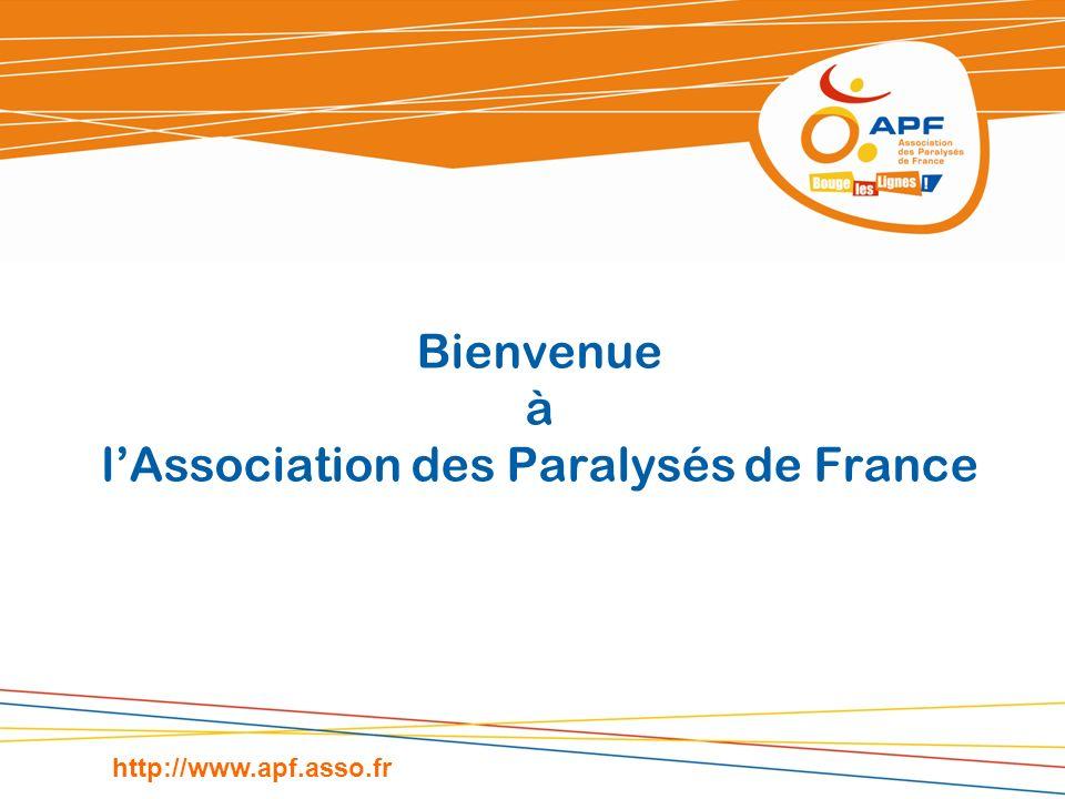 Bienvenue à l'Association des Paralysés de France