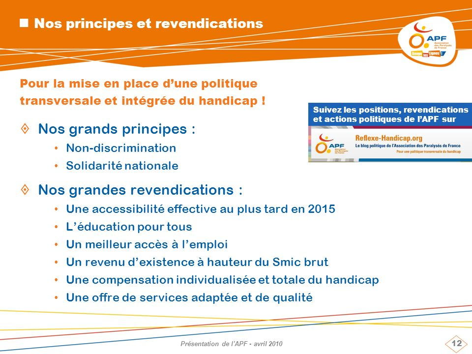 Nos principes et revendications