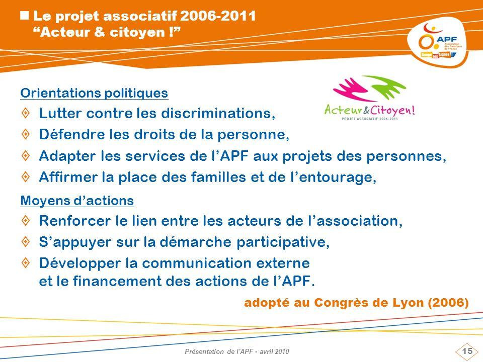 Le projet associatif 2006-2011 Acteur & citoyen !