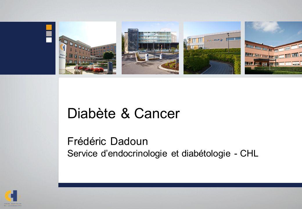 Diabète & Cancer Frédéric Dadoun Service d'endocrinologie et diabétologie - CHL