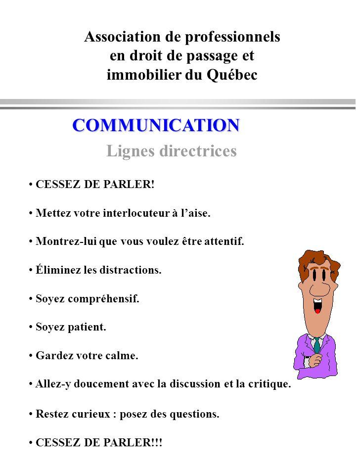 COMMUNICATION Lignes directrices