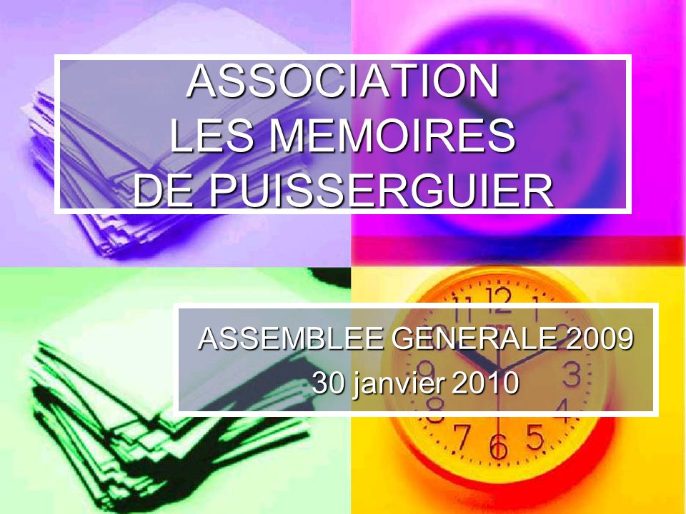 ASSOCIATION LES MEMOIRES DE PUISSERGUIER