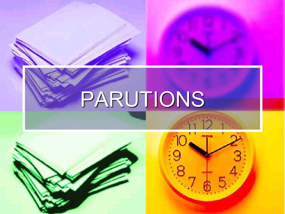 PARUTIONS