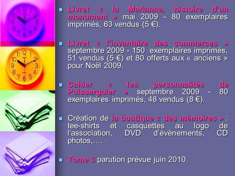 Livret « la Marianne, histoire d'un monument » mai 2009 - 80 exemplaires imprimés, 63 vendus (5 €).