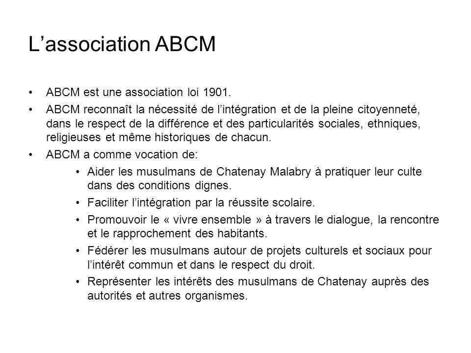 L'association ABCM ABCM est une association loi 1901.