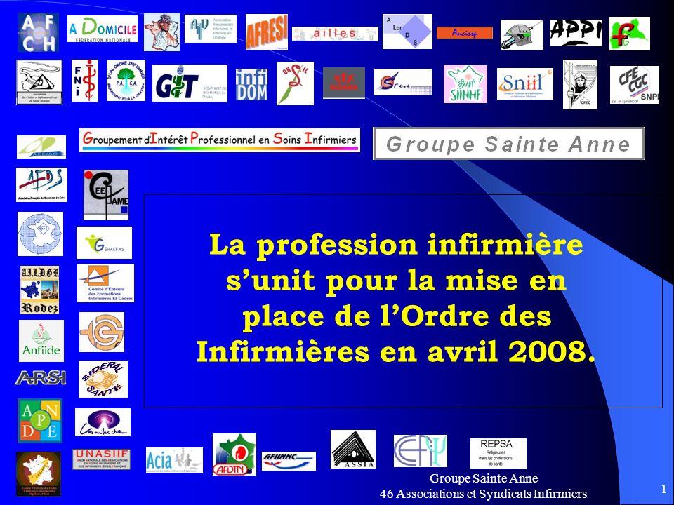 La profession infirmière s'unit pour la mise en place de l'Ordre des Infirmières en avril 2008.