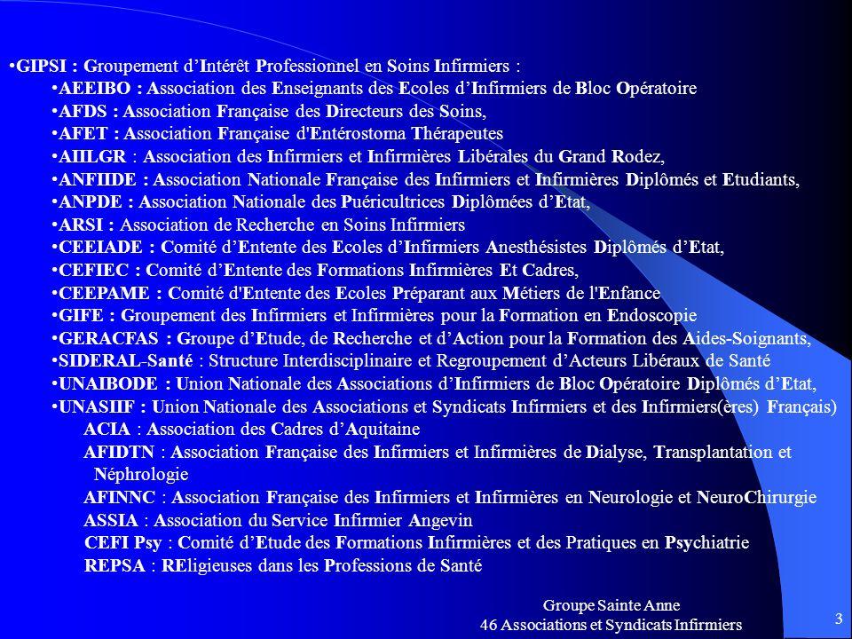 GIPSI : Groupement d'Intérêt Professionnel en Soins Infirmiers :