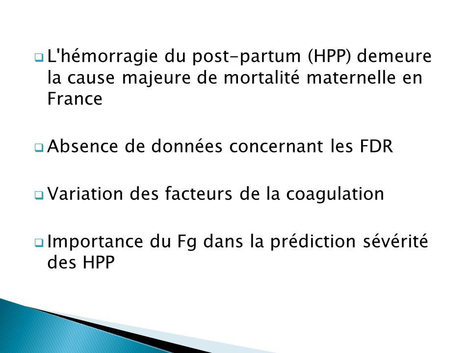 L hémorragie du post-partum (HPP) demeure la cause majeure de mortalité maternelle en France