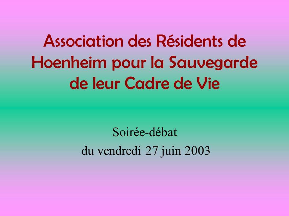 Soirée-débat du vendredi 27 juin 2003