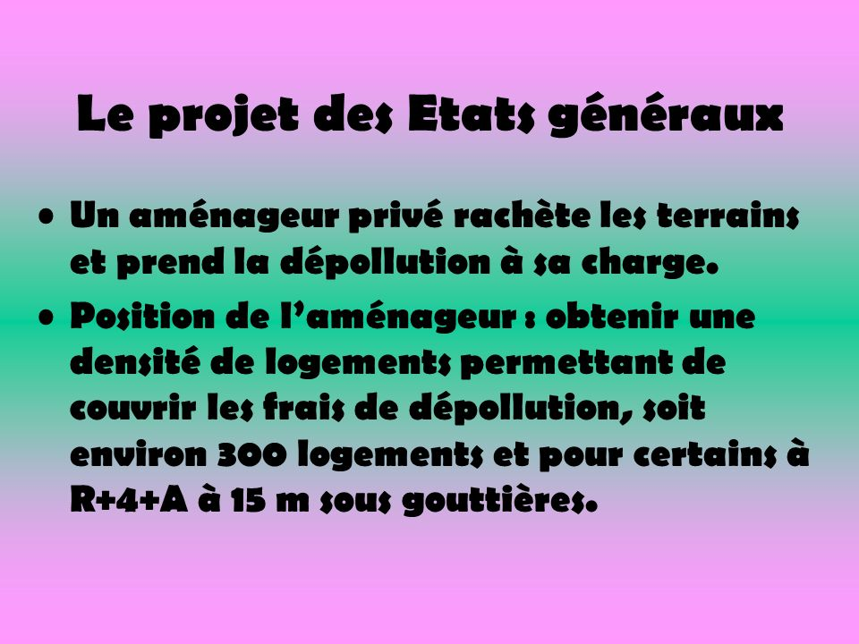 Le projet des Etats généraux