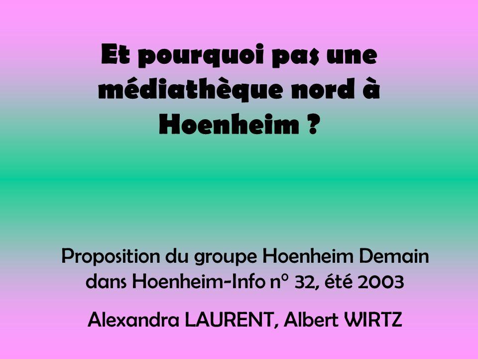 Et pourquoi pas une médiathèque nord à Hoenheim