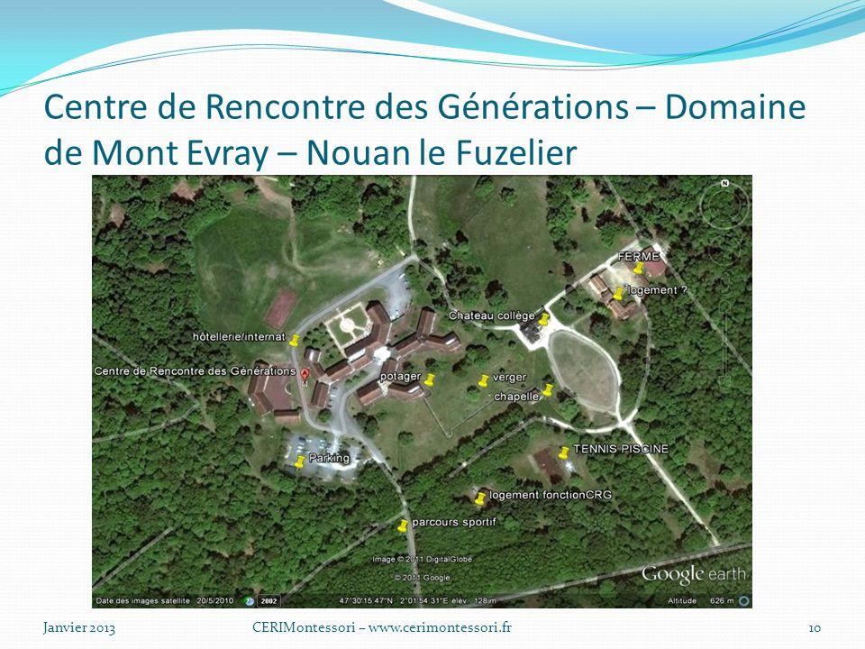 Centre de Rencontre des Générations – Domaine de Mont Evray – Nouan le Fuzelier