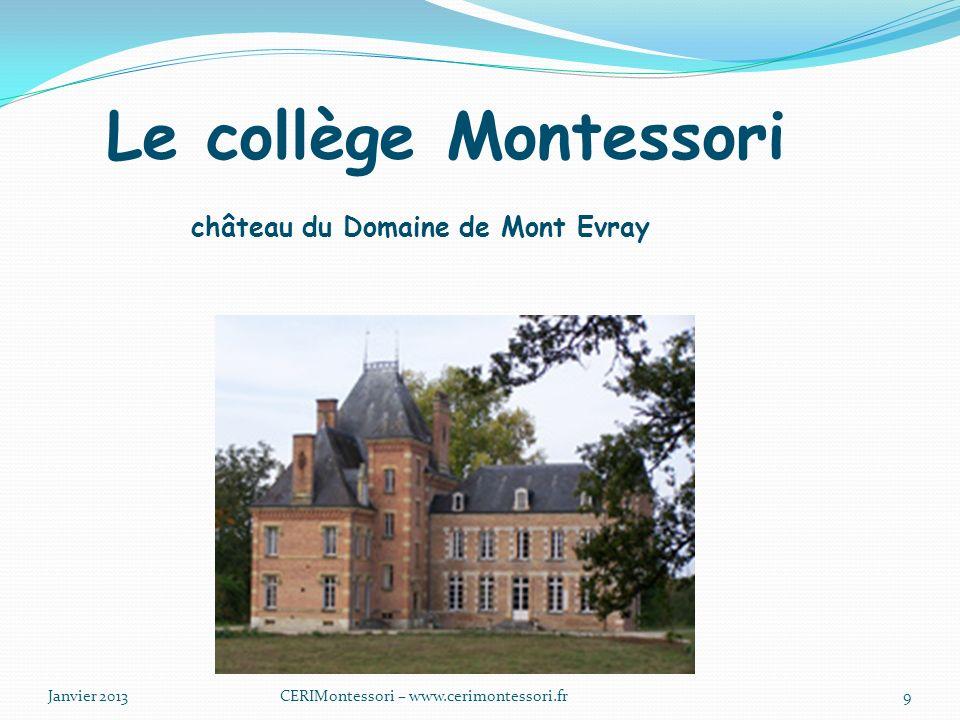 Le collège Montessori château du Domaine de Mont Evray
