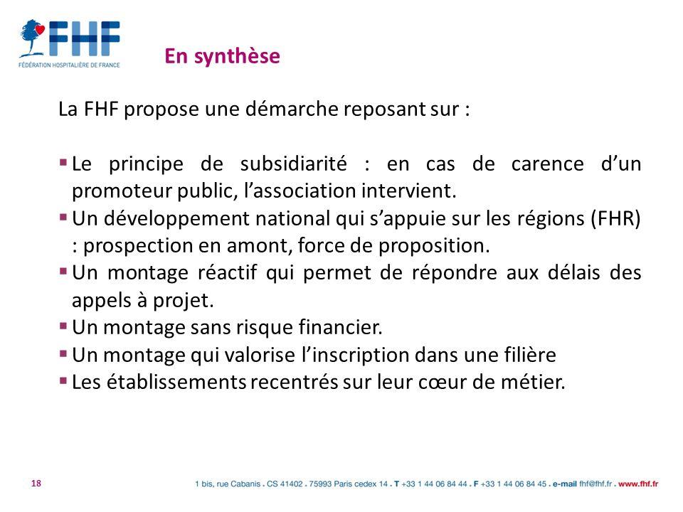 En synthèse La FHF propose une démarche reposant sur :