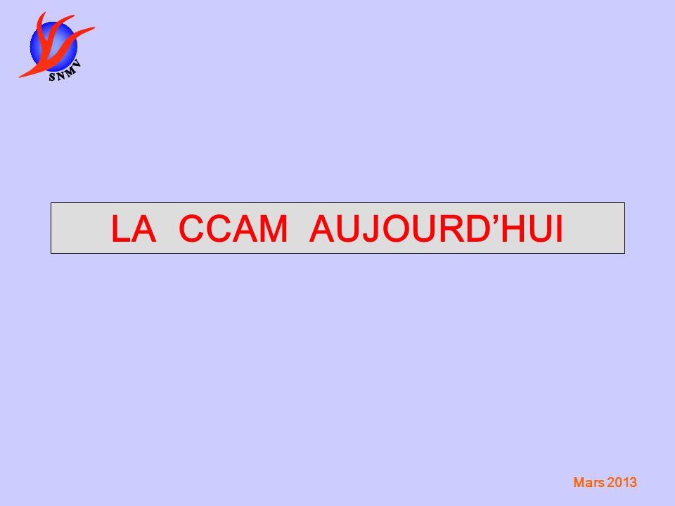 LA CCAM AUJOURD'HUI