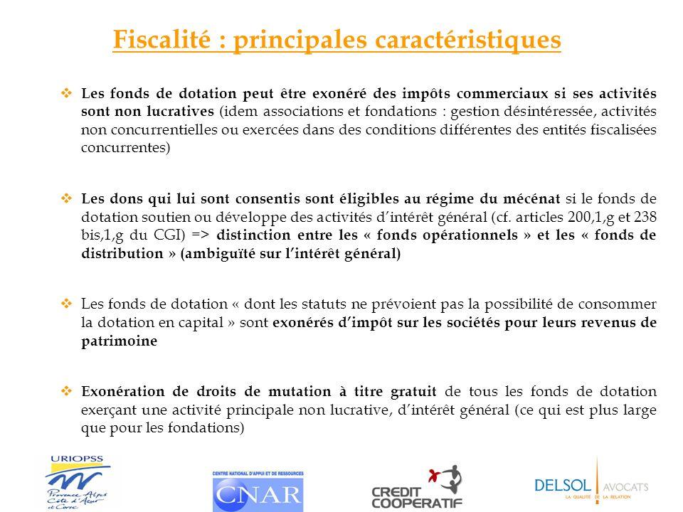 Fiscalité : principales caractéristiques