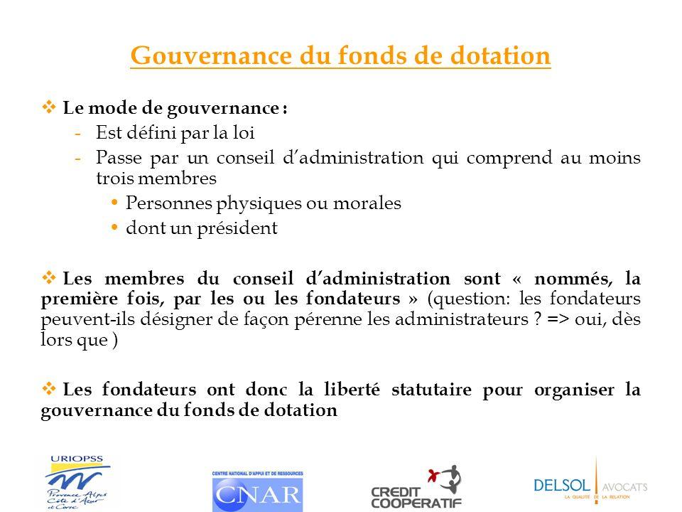 Gouvernance du fonds de dotation