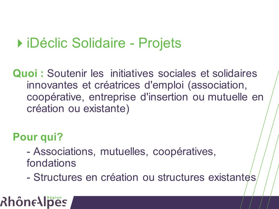 iDéclic Solidaire - Projets