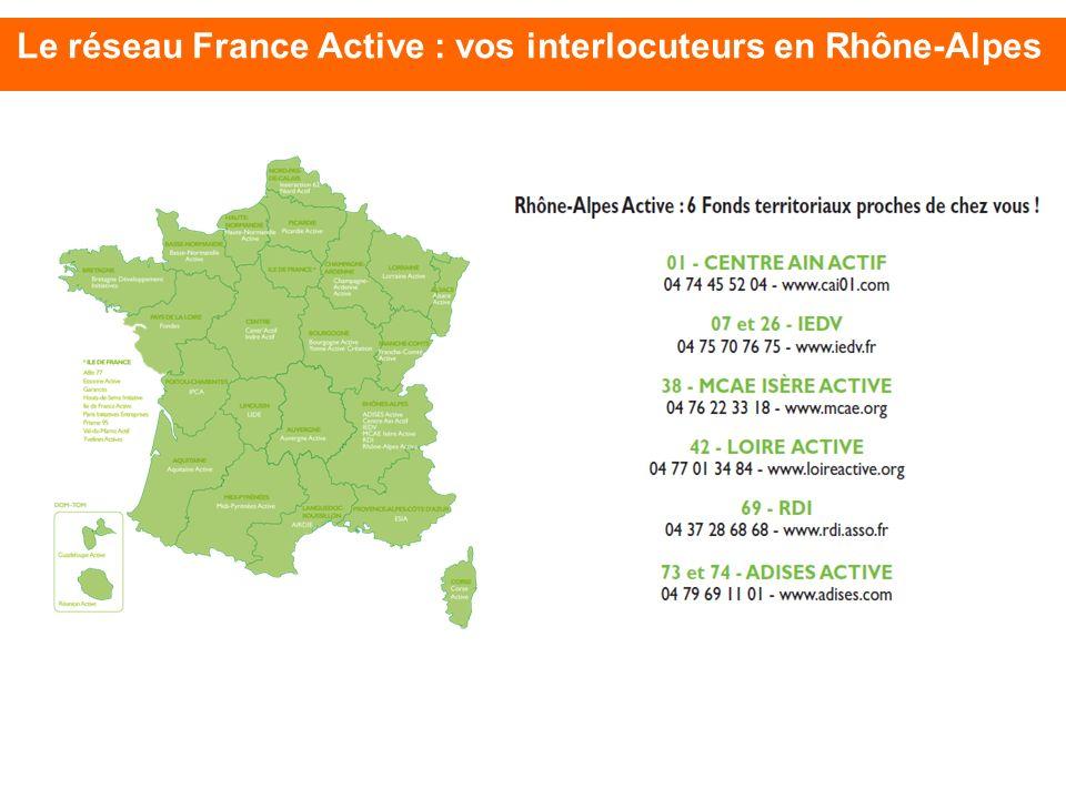 Le réseau France Active : vos interlocuteurs en Rhône-Alpes
