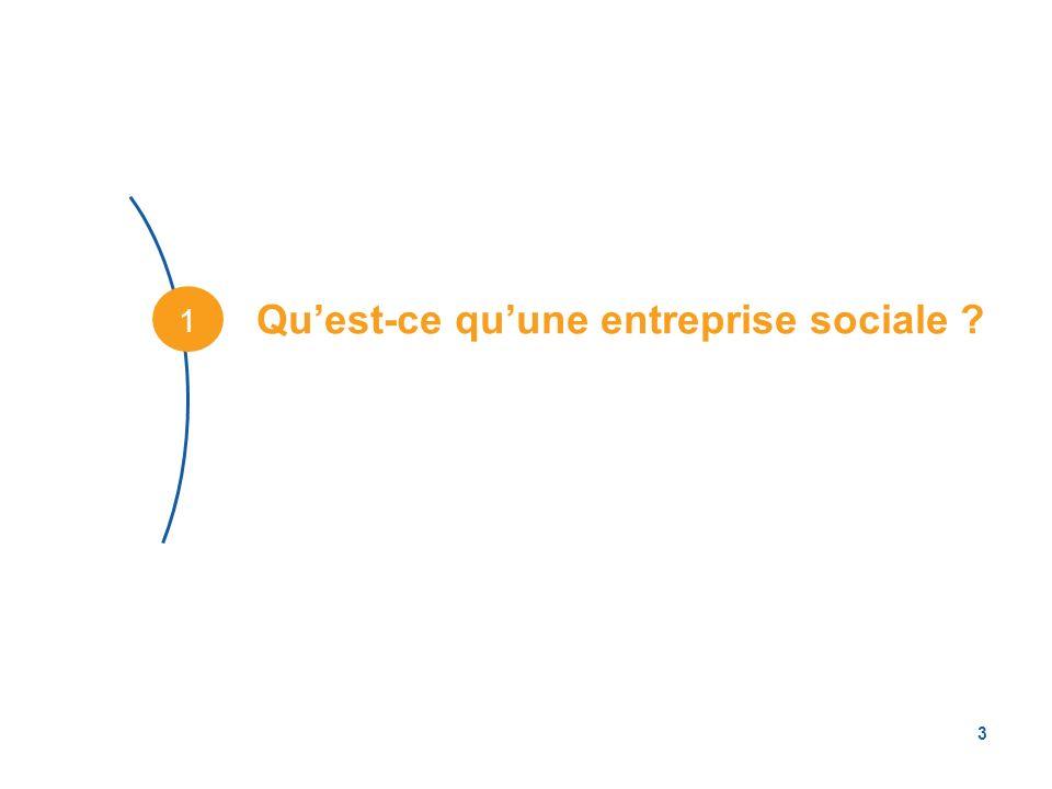 Qu'est-ce qu'une entreprise sociale