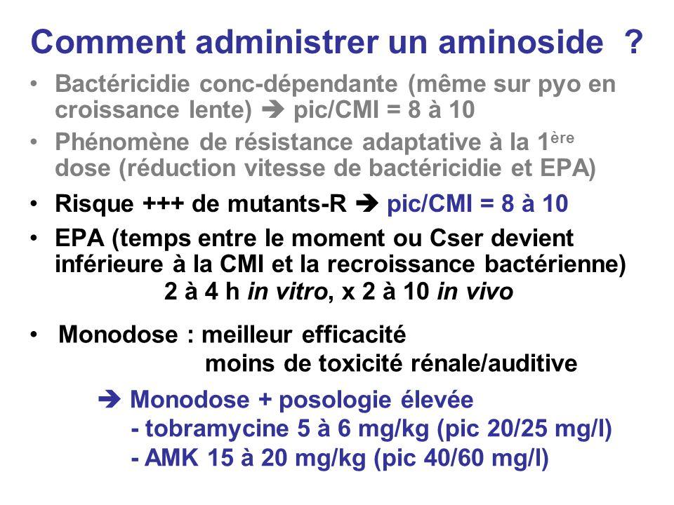 Comment administrer un aminoside