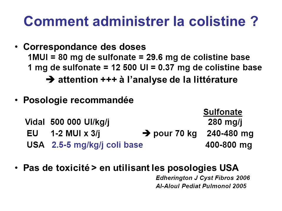 Comment administrer la colistine