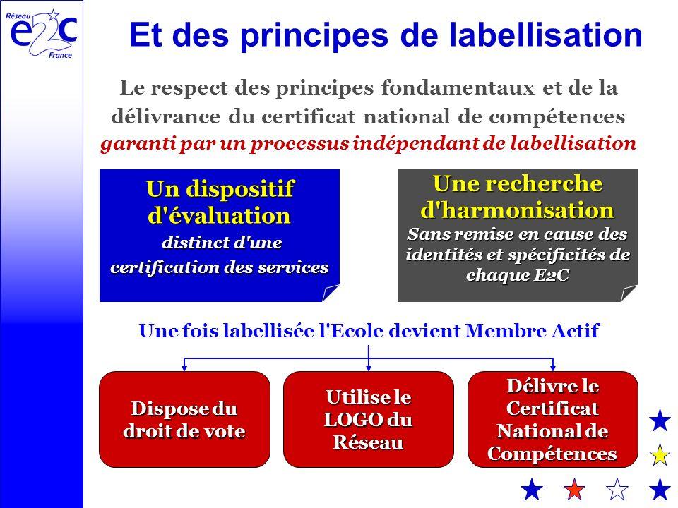 Et des principes de labellisation