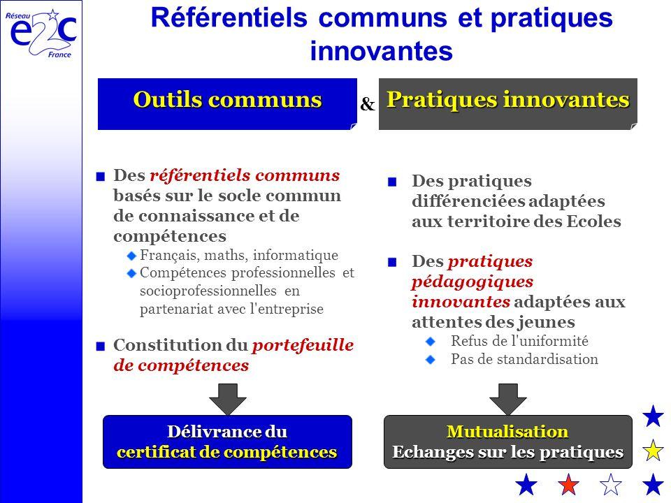 Référentiels communs et pratiques innovantes