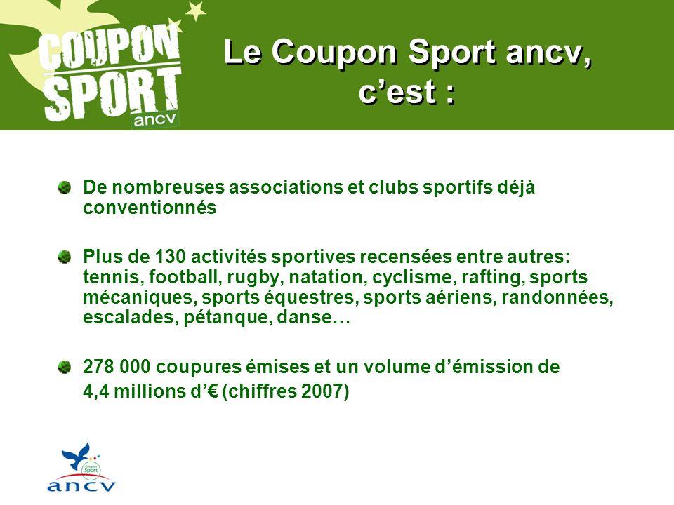 Le Coupon Sport ancv, c'est :