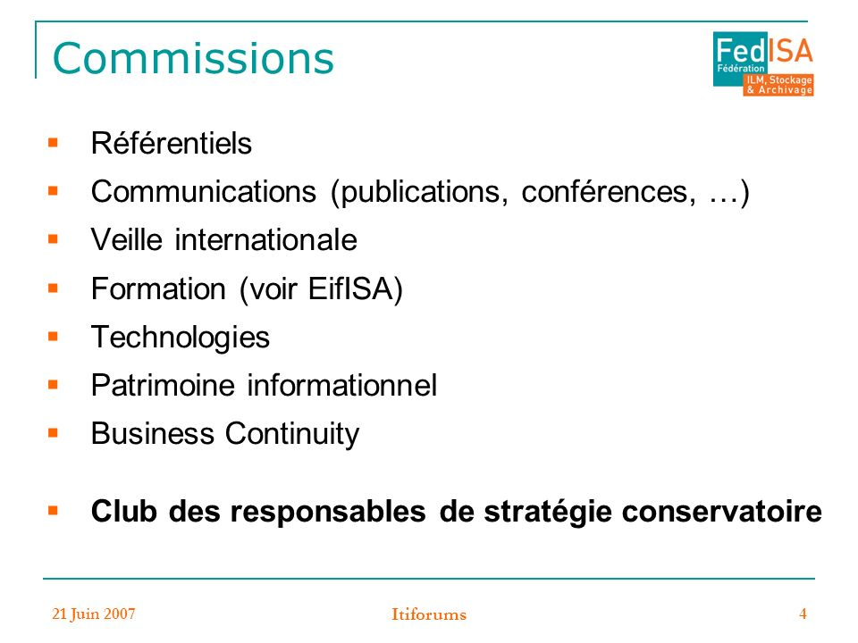 Commissions Référentiels Communications (publications, conférences, …)