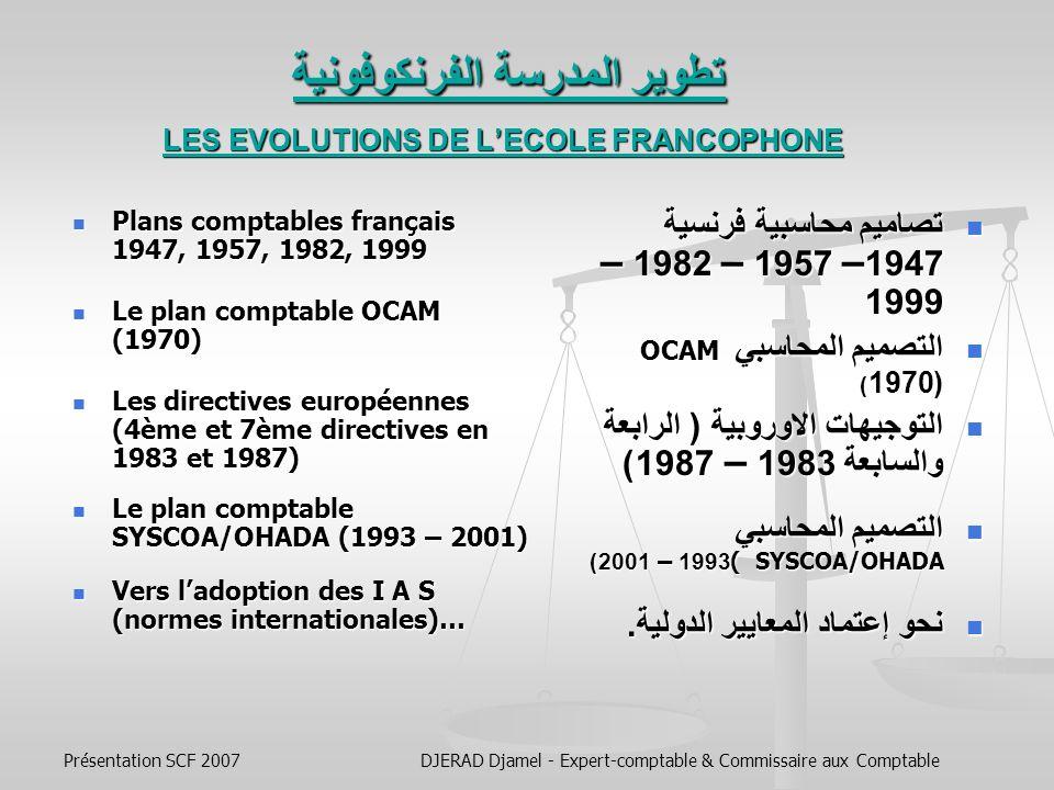 تطوير المدرسة الفرنكوفونية LES EVOLUTIONS DE L'ECOLE FRANCOPHONE