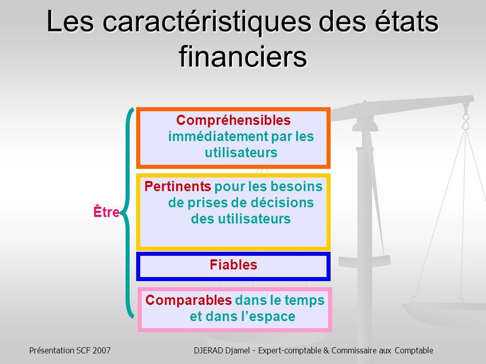 Les caractéristiques des états financiers
