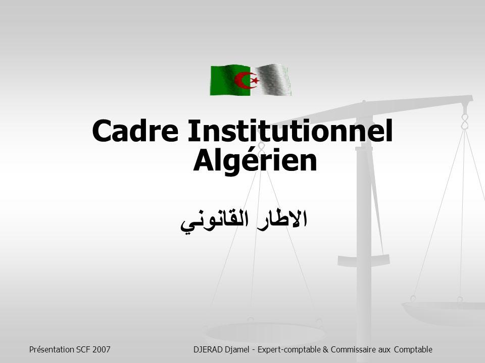 Cadre Institutionnel Algérien
