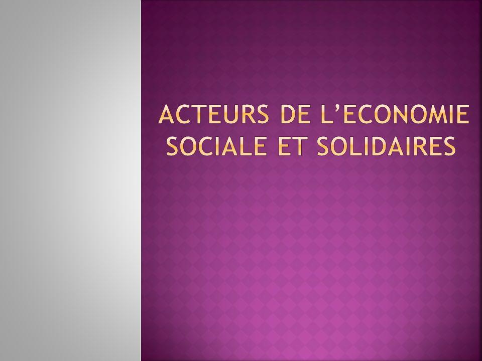 ACTEURS DE L'ECONOMIE SOCIALE ET SOLIDAIRES