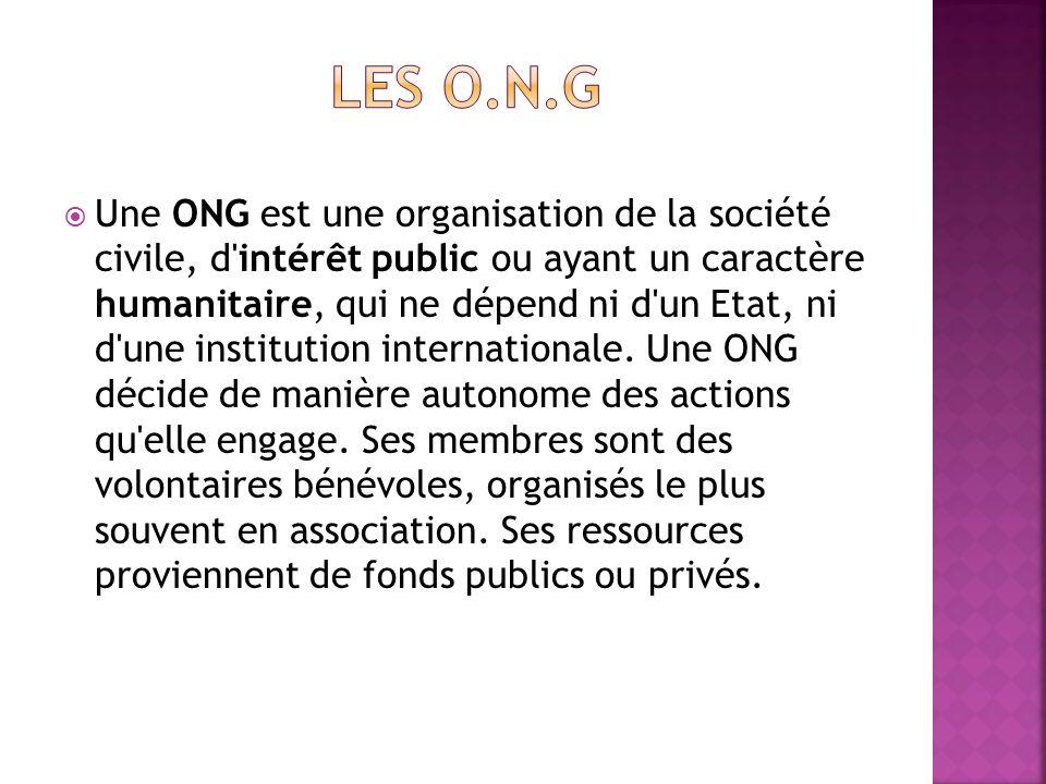 Les o.n.g