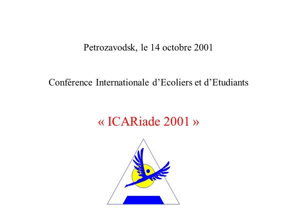 « ICARiade 2001 » Petrozavodsk, le 14 octobre 2001