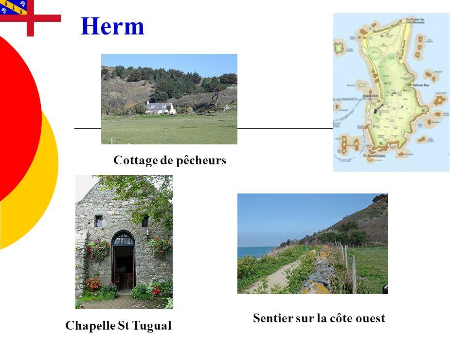 Herm Cottage de pêcheurs Sentier sur la côte ouest Chapelle St Tugual