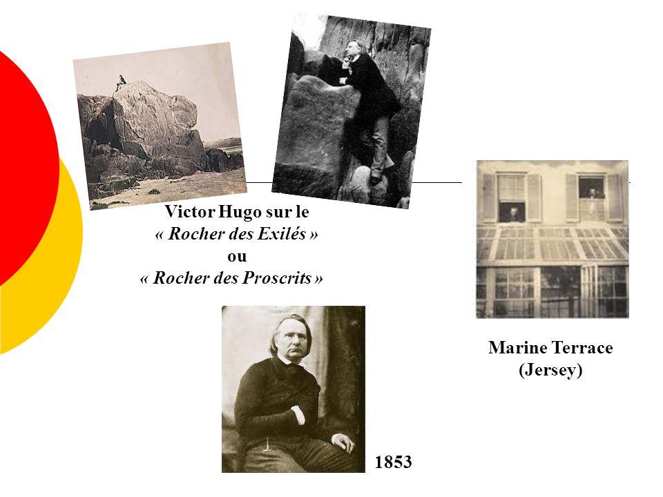 Victor Hugo sur le « Rocher des Exilés »