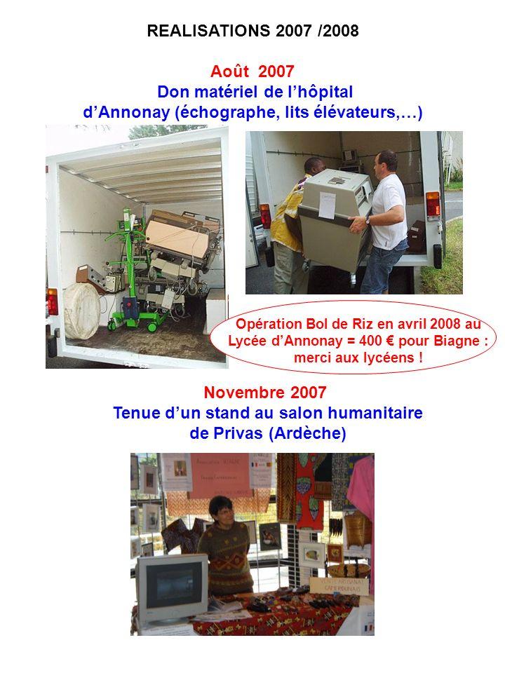 Don matériel de l'hôpital d'Annonay (échographe, lits élévateurs,…)