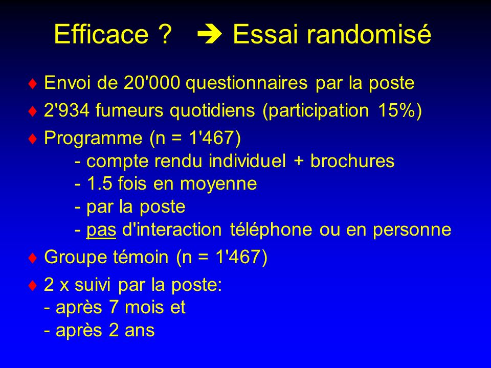 Efficace  Essai randomisé