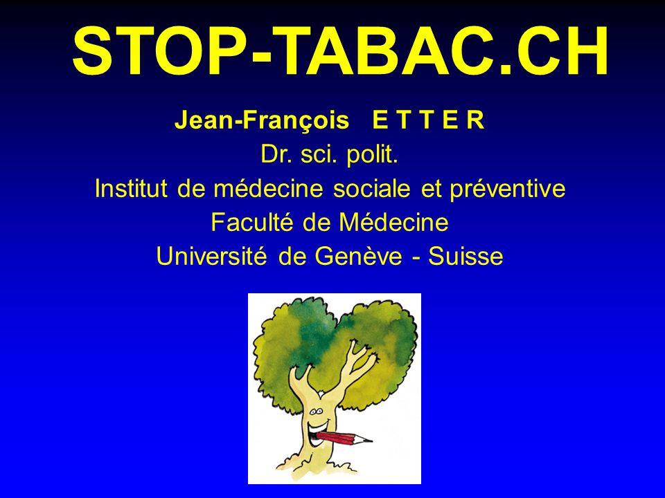 STOP-TABAC.CH Jean-François E T T E R Dr. sci. polit.