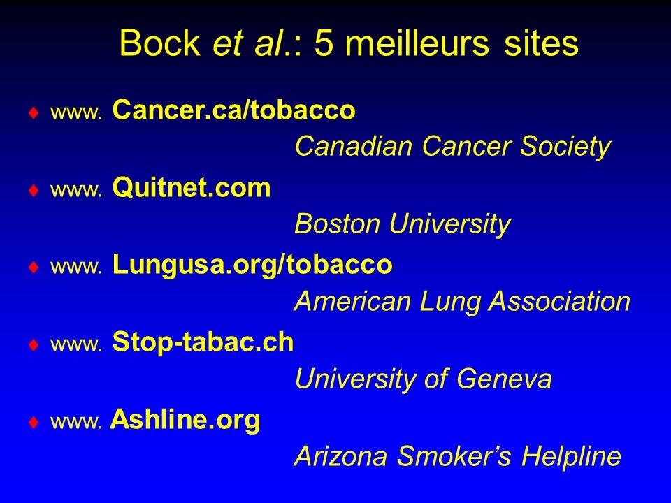 Bock et al.: 5 meilleurs sites