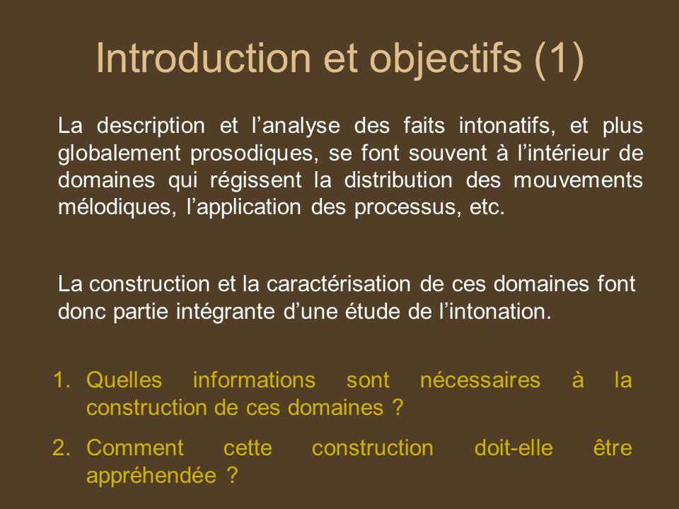 Introduction et objectifs (1)